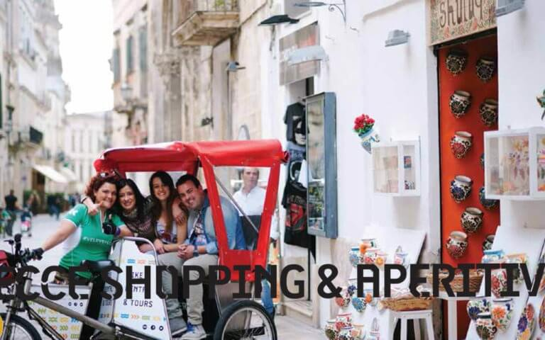Tour Shopping Lecce with rickshaw